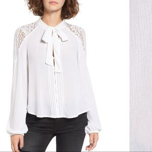 NEW BAND OF GYPSIES WHITE BLOUSE SMALL